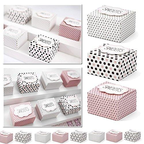 30x cajas de regalo multicolor con texto–Sweets – como regalo para invitados o regalo ocasional–Kleenes Traumhandel®
