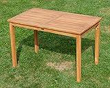ASS Echt Teak Holztisch 120x70cm Gartenmöbel Gartentisch Garten Tisch Holz sehr robust Alpen - 7