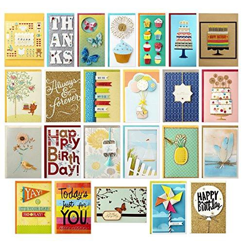 Hallmark - Tarjetas de agradecimiento para baby shower, despedidas de soltera, Caja de lunares.