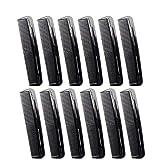 Favorict (12 Pack) 5' Pocket Hair Comb Beard & Mustache Combs for Men's Hair Beard Mustache and Sideburns