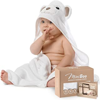 Premium Ultra Soft Organic Bamboo Baby Hooded Towel with Unique Design – Hypoallergenic..
