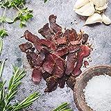 Ember Biltong 1kg Großpacksack – Beef Jerky – Proteinreicher Snack – Knoblauch und Rosmarin (2x500g) - 4