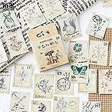 PMSMT 45 unids/Pack Bonitos Sellos DIY Cinta Adhesiva Decorativa de Dibujos Animados, Juego de Pegatinas para álbumes de Recortes artesanales para Diario, Libro, álbum de Fotos