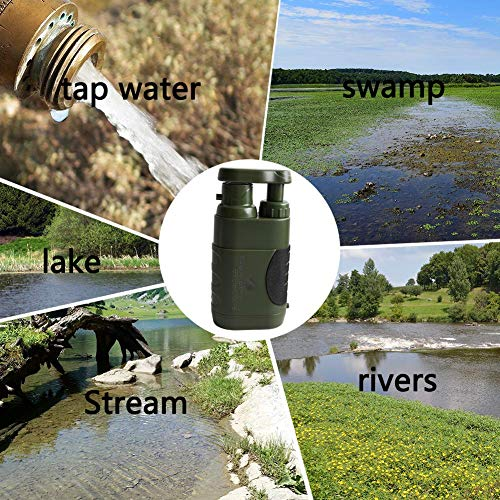 Product Image 6: Portable Water Purifier Pump with Replaceable Carbon Water Filter,Water Filter Purifier Hand Operat Pump Purification System for Backpacking Survival Camping Hiking Emergency Disaster for Home&Outdoor