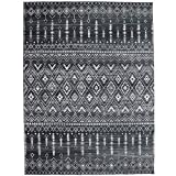 ReaLife Machine Washable Rug - Stain Resistant, Non-Shed - Eco-Friendly, Non-Slip, Family & Pet Friendly - Made from Premium Recycled Fibers - Moroccan - Charcoal, 3' x 5'