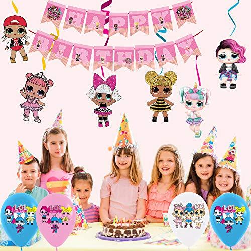 Image 3 - smileh Lol Anniversaire Décoration Lol Ballon Bannière de Joyeux Anniversaire de Lol Tourbillons Suspendus de Lol Surprise Dolls pour Fête d'anniversaire ou Fête d'anniversaire