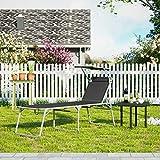 SONGMICS Sonnenliege Liegestuhl Gartenliege mit Sonnendach - 3
