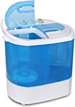 ZENY Portable Compact Washing Machine Mini Twin Tub Washer Spin Spinner 9.9lbs Capacity,..