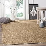 Safavieh Natural Fiber Collection NF510A Handmade Premium Seagrass & Cotton Area Rug, 8' x 10', Natural