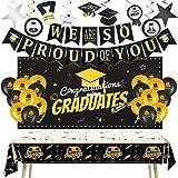 Graduation Decorations 2021, Graduation Banner Graduation Balloons Graduation Backdrop Graduation Party Supplies 2021 Graduation Table Cover Hanging Swirls Strings Graduation Sign Graduation Gifts