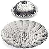 Sunsella Vegetable Steamer - 5.3' to 9.3' - 100% Stainless Steel