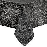Benson Mills Pressed Vinyl Placemats for Halloween/Fall (Black, 60' Round)