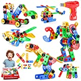 Jasonwell STEM Toys Building Blocks - 168 PCS Educational Construction Set Creative Engineering Toys...