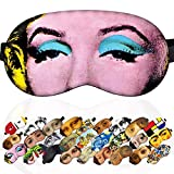 Sleep Mask Marilyn Monroe Masterpieces for Women - 100% Soft Cotton - Comfortable Eye Sleeping Mask Night Cover Blindfoldfor Travel Airplane (Marilyn Monroe, Plastic Pack)