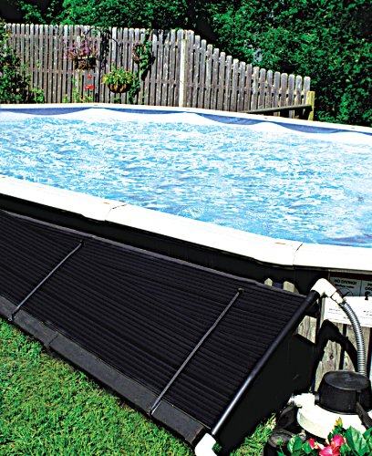 SunHeater S120U Universal Solar Pool Heater 2 by 20-Feet, Black