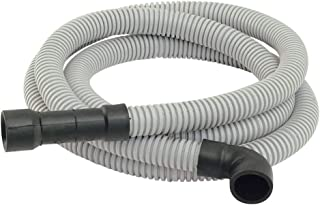 Eastman 91227 Universal-Fit Dishwasher Discharge Hose, 6 Ft Length, Gray