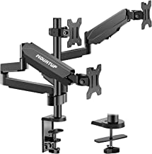 MOUNTUP Triple Monitor Stand Mount – 3 Monitor Desk Mount for Computer Screens Up..