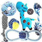 ♥DESIGNED SPECIFICALLY FOR SMALL DOGS: Only for small dogs, small-breed dogs like Chihuahua. ♥THE MOST POPULAR DOG TOYS:Including squeaky deers, ropes, donuts. Dog chew toys set ♥COLORFUL&FUNY: Pretty and attractive small dog toys, dog teething toys,...