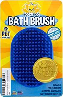 Bodhi Dog New Grooming Pet Shampoo Brush | Soothing Massage Rubber Bristles Curry Comb..