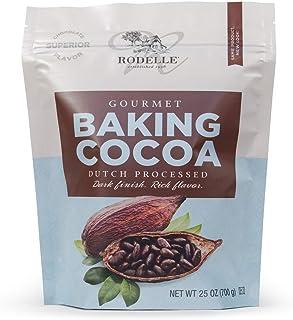 Rodelle Dutch Processed Gourmet Baking Cocoa Powder, 25 Oz, Resealable Bag, Rich Flavor, Dark Finish