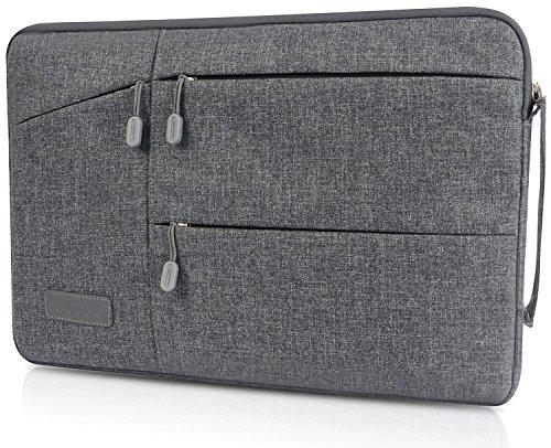 GEARMAX インナーケース PCバッグ Macbook Pro 15/Macbook Pro Retina 15 /ラップトップ 用ケース 14インチまで対応 撥水加工 オシャレ (15.4インチ, グレー)