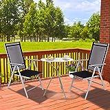 CCLIFE Alu Klappstuhl 4er Set Gartenstuhl Balkonstuhl verstellbar klappbar - 6