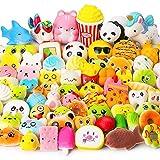 Juguetes Squishy de Hinchado Lento Paquete Surtido de 15 Squishies: Kawaii de Comida Gigante Bollo Pan Donuts Panda Suaves y Blandos Jumbo Medio y Mini - Amuletos de Móvil Llavero Correa
