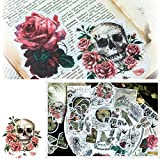 Retro Washi Decorative Adhesive Sticker Pack of 60pcs - Yosy Old Times Theme Planner Stickers Decals for Notebooks,Scrapbooking, Diary,Calendars, Arts,Bullet Journal