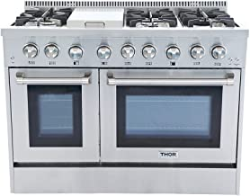 "Thor Kitchen HRD4803U 48"" Freestanding Professional Style Dual Fuel Range 6.7 cu..."