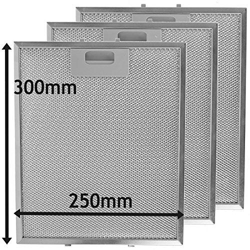 SPARES2GO - Filtro universale a rete metallica antigrasso per aspiratore cappa da cucina (confezione...
