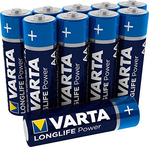 Varta 4906121461 Longlife Power (High Energy) Batteria Alcalina, Stilo AA LR03, Confezione da 10 Pile - Il design può variare, Confezione risparmio