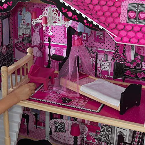 Image 7 - Kidkraft - 65093 - Maison de Poupées en Bois Amelia Incluant Accessoires et Mobilier, 3 Étages de Jeu pour Poupées 30 cm