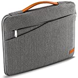 deleyCON 17,3' Pulgadas (43,94cm) Notebook Bolsa para el Netbook Laptop Bolsa para Ordenador Portátil de Nylon Robusto 2 Compartimentos para Accesorios Paredes Acolchadas Reforzadas - Gris