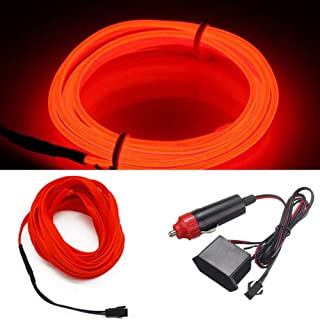 HomDSim 118inch 300cm Auto Car Interior Decor LED Neon Light Lamp Glow EL Wire String..