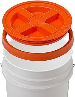 5 Gallon White Bucket & Gamma Seal Lid – Food Grade Plastic Pail & Gamma2..