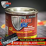 POR 15 45032 - 4oz Can Gloss Black Rust Preventative Paint - Paint Over Rust! (Single Can)