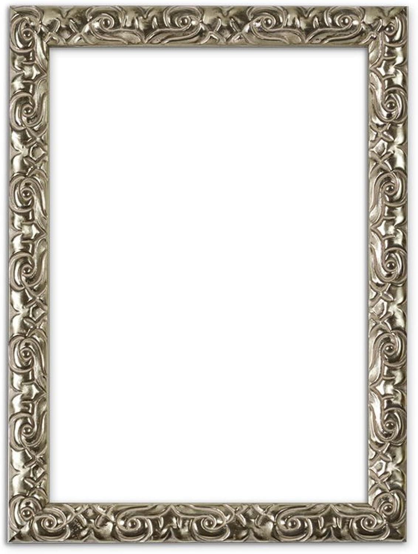 Bilderrahmen In Silber A1 Antik Look Mit Verzierungen