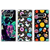 BEAULIFE Case for Samsung Galaxy S10e Painted 3Pcs Series Phone Case Cover Full Body Protective Soft Flexible TPU Case Colorful Planet Unicorn Butterfly