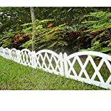 Worth Garden Plastic Fence Pickets Indoor Outdoor Protective Guard Edging Decor #3118, White