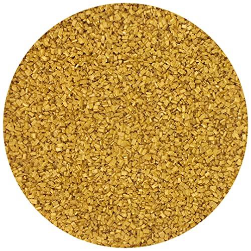 Celebakes Shimmering Decorating Crystal Sugar, Gold, 16oz Tub