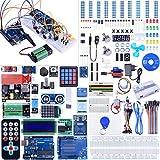 kuman Kit de démarrage Complet avec tutoriel pour Arduino (66 Articles) Comprenant Carte contrôleur R3, Kits de Module de capteur, LCD, servo, Moteur Pas à...