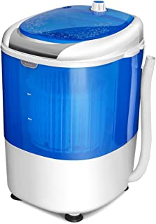 COSTWAY Mini Washing Machine with Spin Dryer, Electric Compact Laundry Machines Portable..