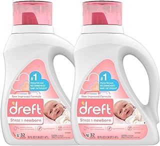 Dreft Stage 1: Newborn Hypoallergenic Liquid Baby Laundry Detergent (HE), Natural for..