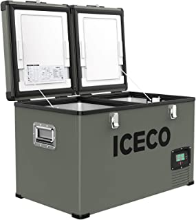 ICECO VL60 Dual Zone Portable Refrigerator with SECOP Compressor, 60 Liters Platinum..