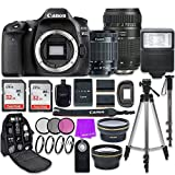 Canon EOS 80D 24.2MP CMOS Full HD Wi-Fi Enabled Digital SLR Camera with Canon EF-S 18-55mm is STM...