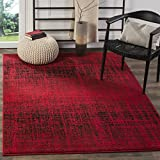 Safavieh Adirondack Collection ADR116F Red and Black Modern Abstract Area Rug (4' x 6')