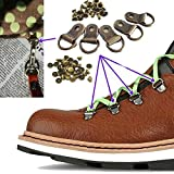 (Pack of 20 Set)Metal Steel Buckles Rivet D Ring Shoe Lace Eye Wook Boot DIY Repair Kit - Repair Climb Hunting Hiking or Work Outdoor Boots shoes Mountaineering Boots Canvas tent