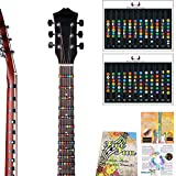Guitar Fretboard Note Decals Fingerboard Frets Map Sticker for Beginner Learner Practice Fit 6 Strings Acoustic Electric Guitar For THE FULL GUITAR NECK all the way up to 24 frets