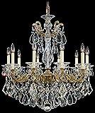 Schonbek 5074-22A Swarovski Lighting La Scala Chandelier, Heirloom Gold