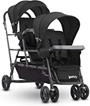 Joovy Big Caboose Graphite Triple Stroller, Stand on Tandem, Turquoise
